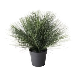 FEJKA artificial potted plant with LED, battery-operated Pine