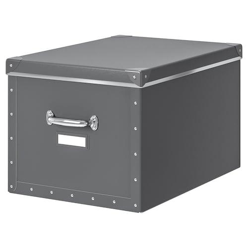 FJÄLLA storage box with lid dark grey 50 cm 56 cm 35 cm 30 cm
