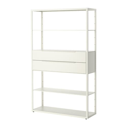 Fjälkinge Shelving Unit With Drawers White
