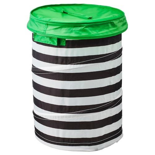 FLYTTBAR basket with lid green 49 cm 35 cm