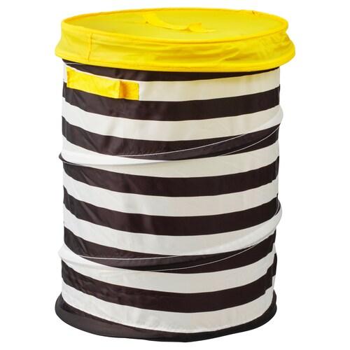 FLYTTBAR basket with lid yellow 49 cm 35 cm