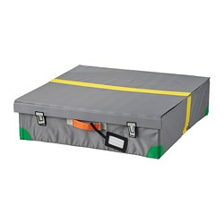FLYTTBAR bed storage box, dark grey