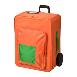 FLYTTBAR storage box, orange