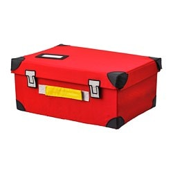 FLYTTBAR trunk for toys, red