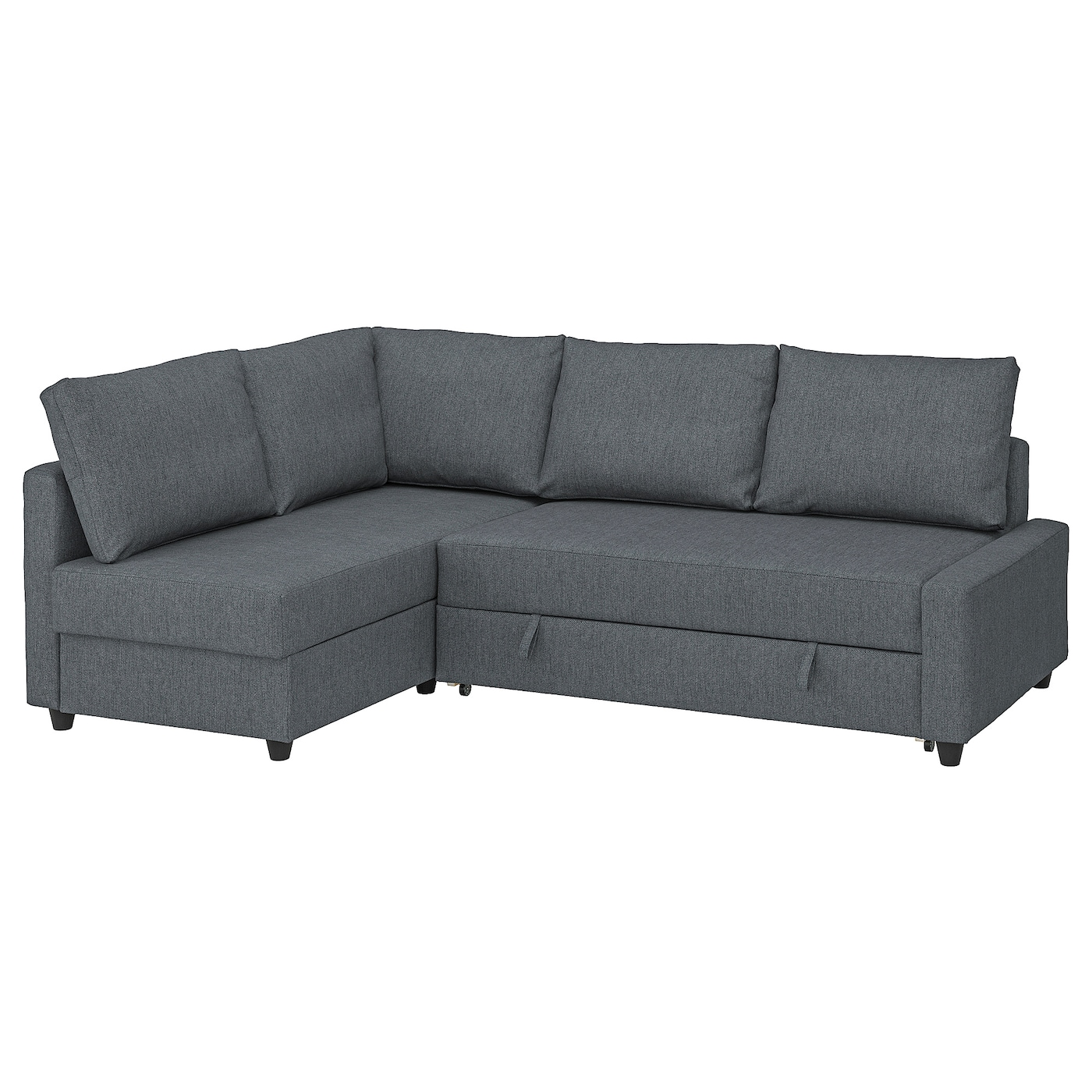 Picture of: Friheten Corner Sofa Bed With Storage With Extra Back Cushions Hyllie Dark Grey Ikea