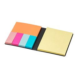 FULLFÖLJA folder with sticky notes