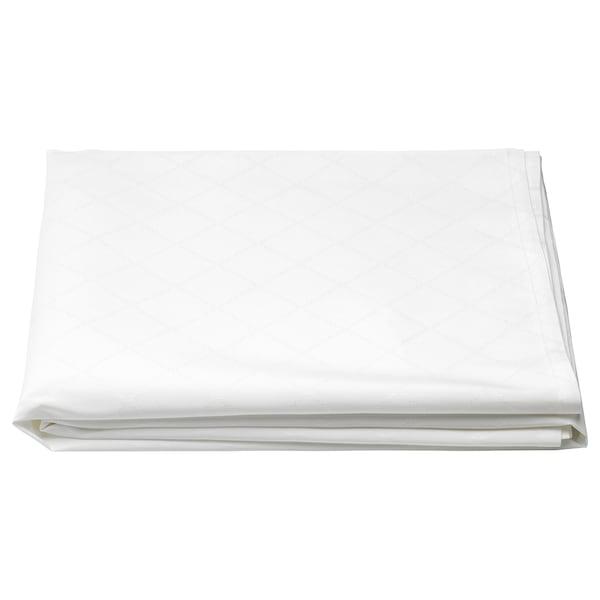 FULLKOMLIG tablecloth white 240 cm 145 cm