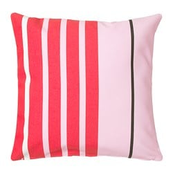 FUNKÖN cushion cover, red, white light pink