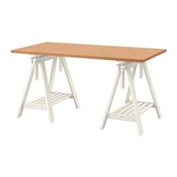 GERTON /  FINNVARD table, beech, white