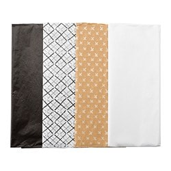 GIVANDE tissue paper, black natural, white
