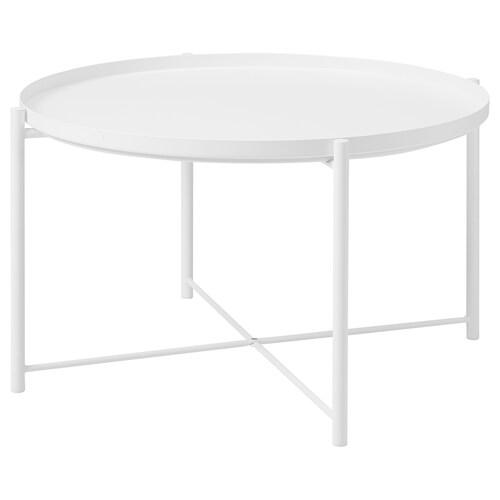 GLADOM coffee table white 41 cm 73 cm