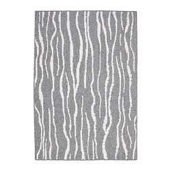 GLUMSÖ rug, flatwoven, light grey