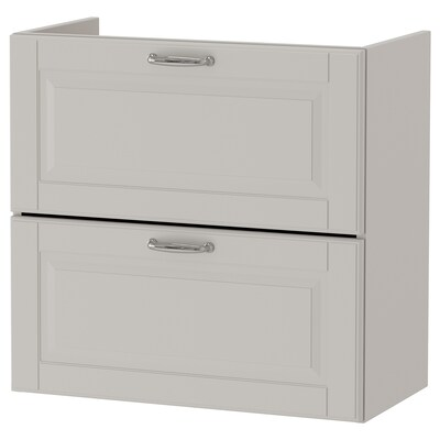 GODMORGON wash-stand with 2 drawers Kasjön light grey 60 cm 32 cm 58 cm