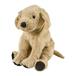 GOSIG GOLDEN soft toy, yellow dog, golden retriever