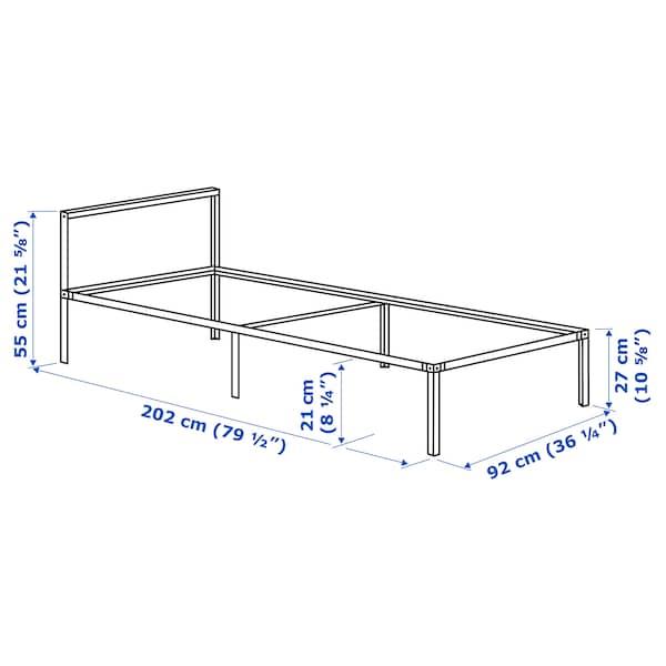 GRIMSBU Bed frame, grey, 90x200 cm