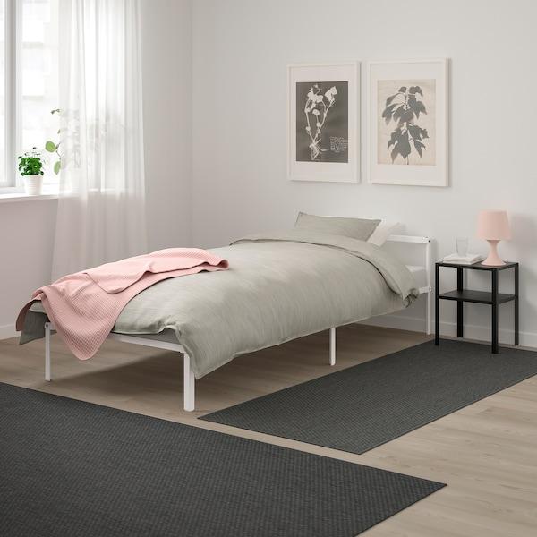 GRIMSBU Bed frame, white, 90x200 cm