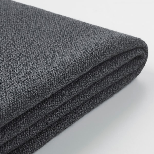 GRÖNLID Cover for 3-seat sofa-bed, with chaise longue/Sporda dark grey