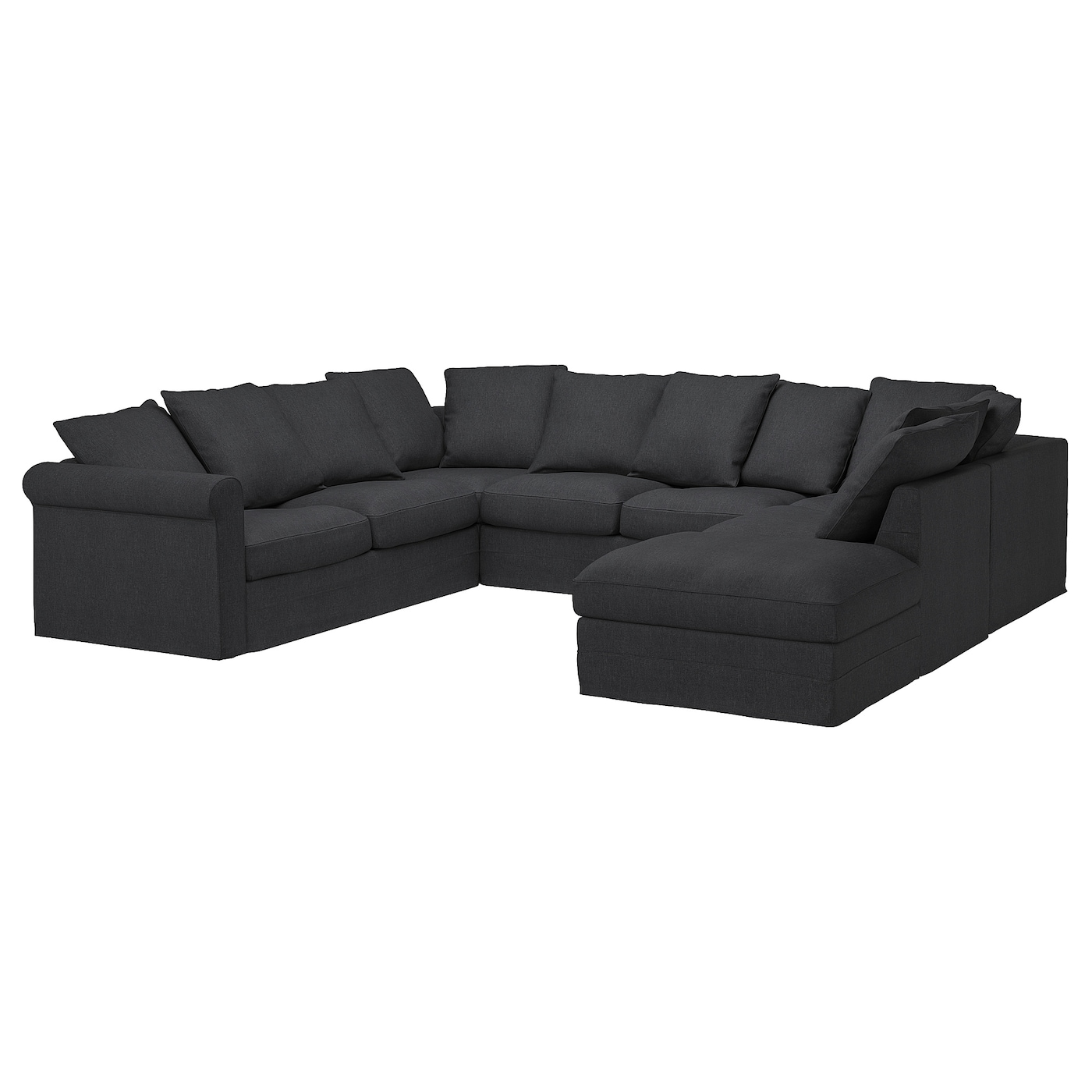 Picture of: Gronlid U Shaped Sofa 6 Seat With Open End Sporda Dark Grey Ikea