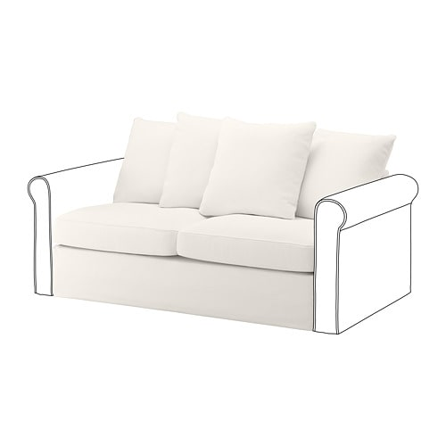 Peachy Gronlid 2 Seat Sofa Bed Section Inseros White Bralicious Painted Fabric Chair Ideas Braliciousco