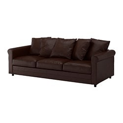 GRÖNLID 3-seat sofa, Kimstad dark brown