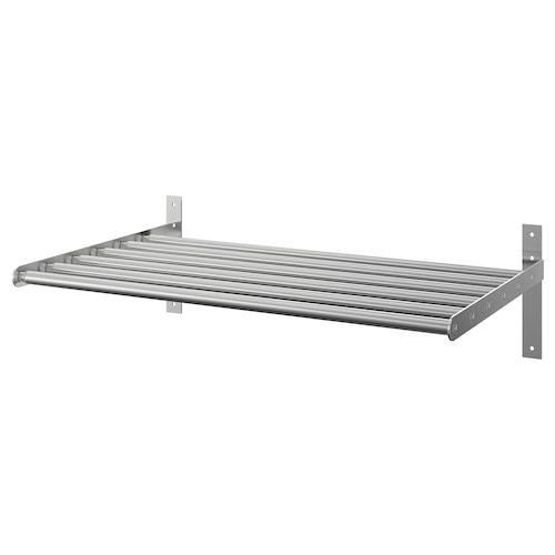 GRUNDTAL drying rack, wall stainless steel 67 cm 120 cm 40 cm 20 cm 20 kg