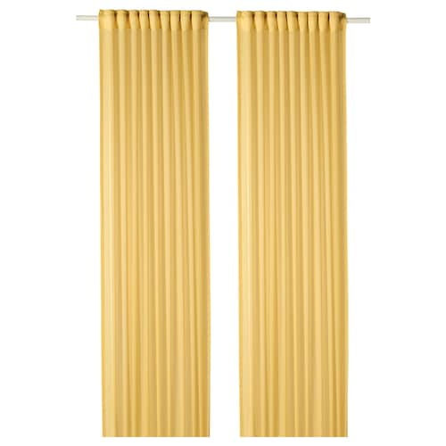 GUNRID air purifying curtain, 1 pair yellow 250 cm 145 cm 0.92 kg 3.63 m² 2 pieces