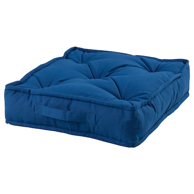 GURLI Floor cushion, blue, 45x45x10 cm