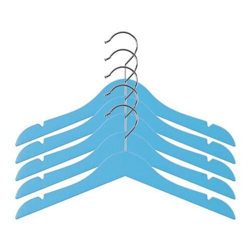 H nga children 39 s coat hanger blue ikea for Ikea kids coat hangers