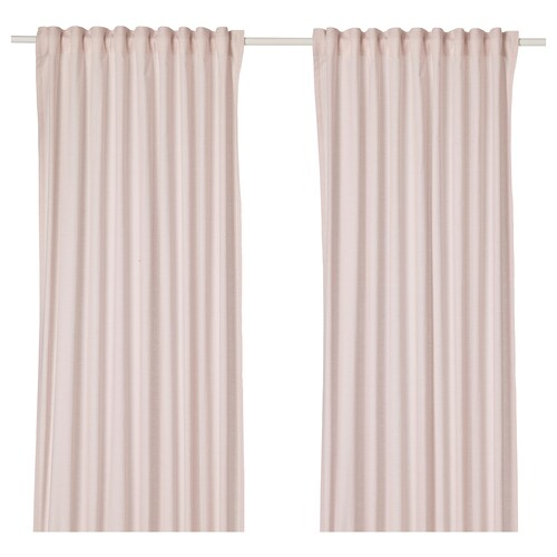 HANNALILL curtains, 1 pair dark pink 250 cm 145 cm 1.00 kg 3.63 m² 2 pieces