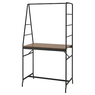 HÅVERUD Table with storage ladder, black