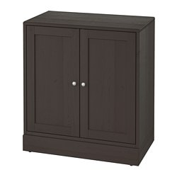 HAVSTA cabinet with plinth, dark brown