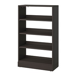 HAVSTA shelving unit with plinth, dark brown