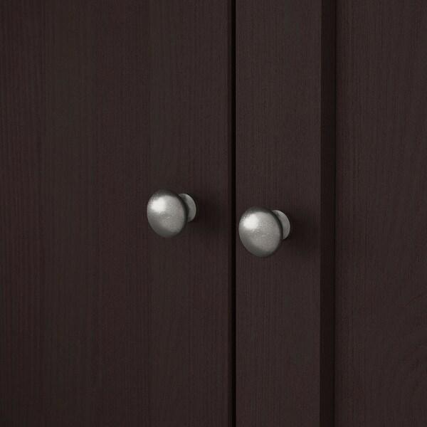 HAVSTA Storage combination with doors, dark brown, 81x47x212 cm
