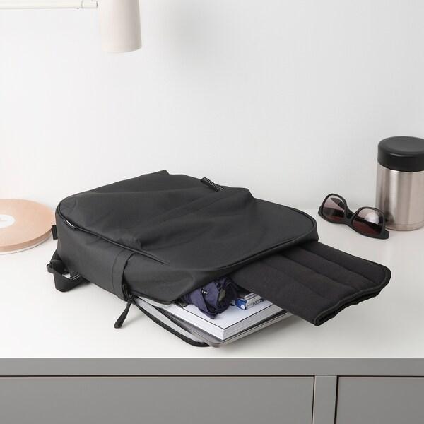 HERDIS Chair pad, black, 37x37x1.8 cm