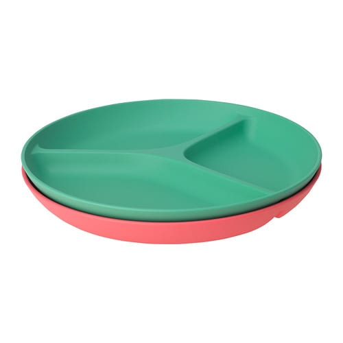 HEROISK Plate with 3 compartments IKEA Colourful, impact resistant and grip-friendly.