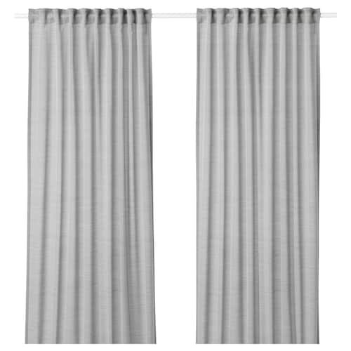 HILJA curtains, 1 pair grey 250 cm 145 cm 0.60 kg 3.63 m² 2 pieces