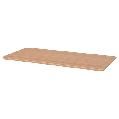 HILVER table top bamboo 140 cm 65 cm 3.0 cm