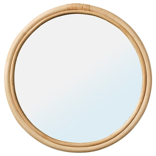 HINDÅS Mirror, rattan, 50 cm