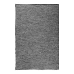 HODDE rug flatwoven, in/outdoor, in/outdoor grey, black