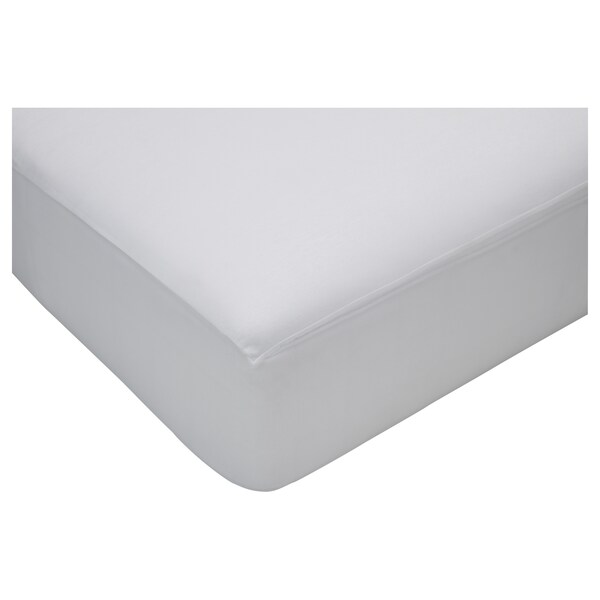HÖSTVÄDD fitted sheet white 200 cm 150 cm