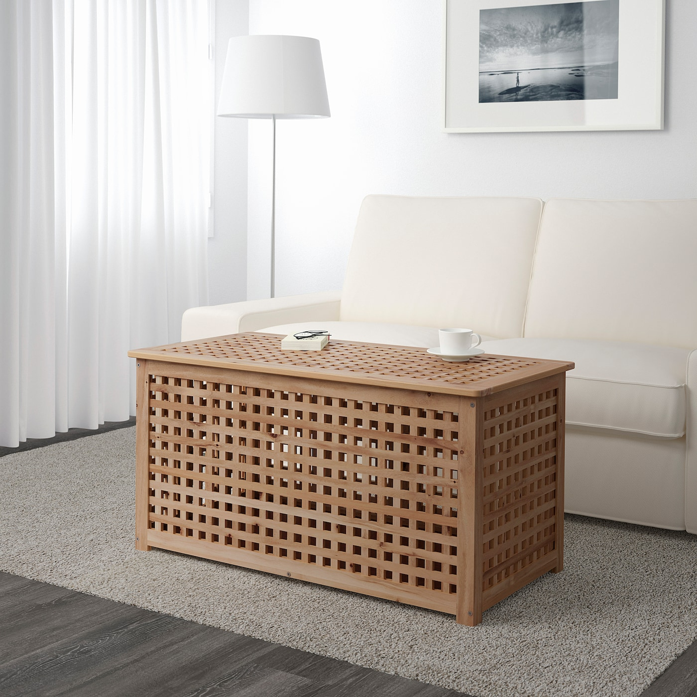 Hol Storage Table Acacia Ikea