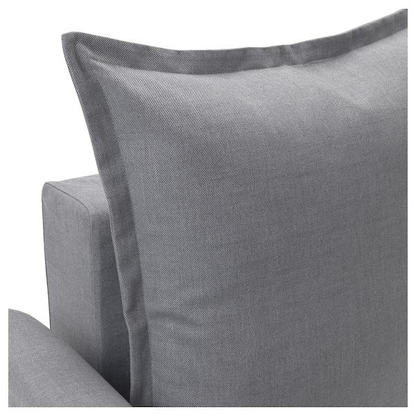HOLMSUND Three-seat sofa-bed, Nordvalla medium grey
