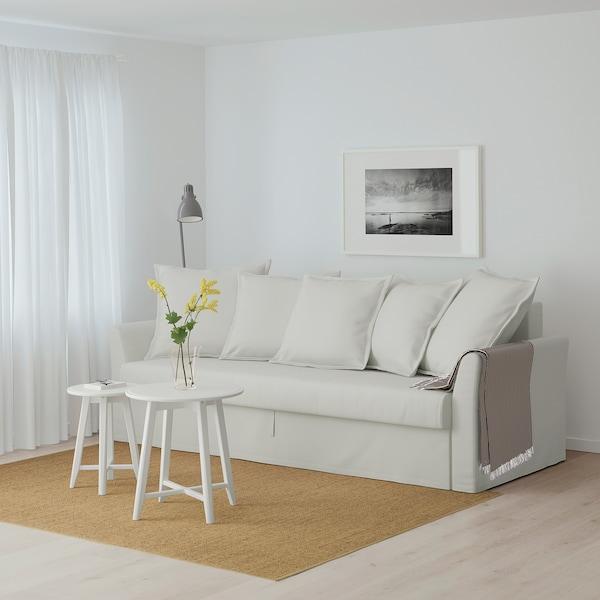 HOLMSUND Three-seat sofa-bed, Orrsta light white-grey