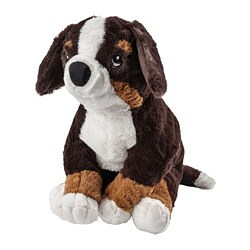 HOPPIG soft toy, dog, white bernese mountain dog