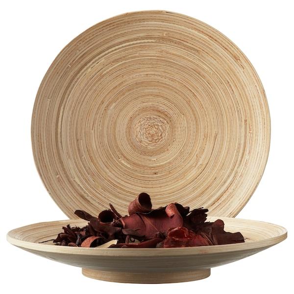 HULTET Dish, bamboo, 30 cm