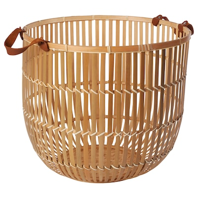 HURRING Basket, bamboo natural, 40 cm