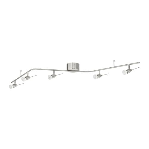 Husinge Ceiling Track 5 Spots Nickel Plated
