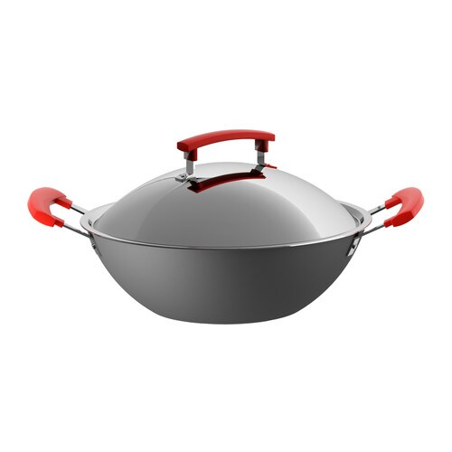 IDENTISK Wok with lid
