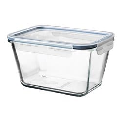 IKEA 365+ food container with lid, rectangular glass, glass plastic