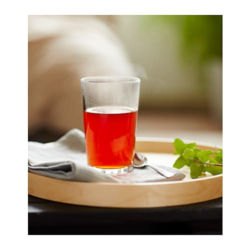 IKEA 365+ Glass IKEA Also suitable for hot drinks.  Made of tempered glass, which makes the glass durable and extra resistant to impact.